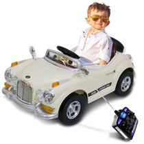Carro Elétrico Carrinho Infantil Modelo Retro com Controle Remoto Entrada Auxiliar MP3 12V - Bel Fix
