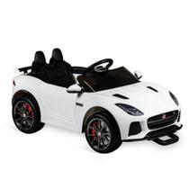 Carro eletrico de passeio infantil jaguar 12v branca painel com som e luz - BRINQUEDOS HORIZONTE