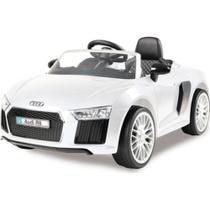 Carro Eletrico Infantil Audi R8 6V Com Controle Remoto Branco - Xalingo 109320 -