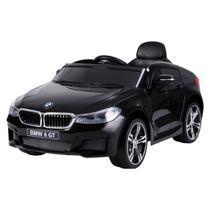 Carro elétrico infantil bmw 6 gt com r/c 12v preto belfix -