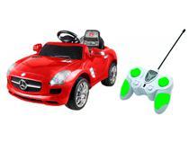Carro Elétrico Infantil Vermelho Xalingo - Mercedes Benz 6V com Controle Remoto