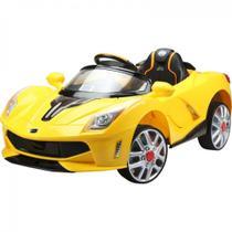 Carro Eletrico Mini Ferrari Amarela 12v com Controle Remoto  Bel -