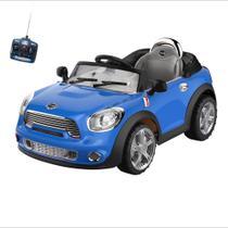 Carro Infantil Eletrico Conversivel 6V Com Controle Remoto Azul - Bel Brink