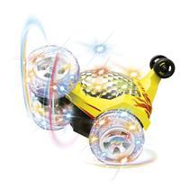 Carro Maluco Gira 360 Graus Controle Remoto Sem Fio + Som e Muita Luz A Pilha Recarregável - Kopeck