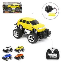 Carro pick-up / jeep com controle remoto + carregador e luz big foot wellkids - Wellmix