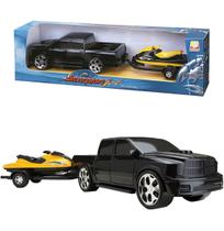 Carro pick-up scorpion com jet ski roda livre colors - Silmar