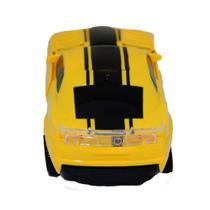 Carro Robô Transformers carrinho infantil Camaro amarelo - King