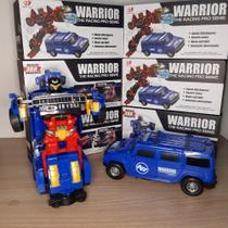 Carro Transformers Vira Robo Projetor Imagem Som Luz Azul Optimus Prime - Emporio Magazine