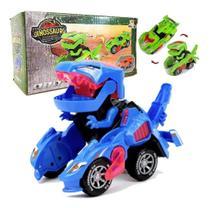 Carro Vira Robô Dinossauro Dragão Anda Luz Som Transformers - Gama