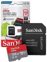 Cartão De Memoria 128Gb Micro Sd Ultra 100Mb/S C10 Sandisk -