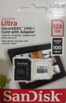 Cartão de Memória 128gb Micro Sd Ultra 100mbs Classe 10 Sandisk -
