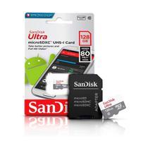 Cartão de Memória 128Gb Micro Sd Ultra 80MB/s SanDisk -