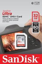 Cartão de Memória 32gb Sdhc Ultra 80mbs Classe 10 Sandisk -