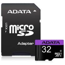 Cartão de Memória Adata MicroSDHC 32 GB Classe 10 com Adaptador - AUSDH32GUICL10-RA1 -