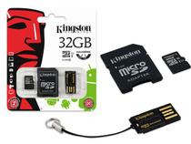 Cartao de Memoria Classe 10 Kingston MBLY10G2/32GB Multikit 32GB Micro Sdhc+adaptador Sd+adaptadorusb