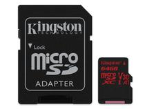 Cartao de memoria classe 10 kingston sdcr/64gb micro sdxc 64gb 100r/80w uhs-i u3 v30 canvas react