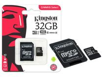 Cartao de Memoria Classe 10 Kingston SDCS/32GB Micro SDHC 32GB 80R/10W UHS-I U1 Canvas Select -