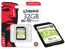 Cartao de memoria classe 10 kingston sds/32gb sdhc 32gb 80r/10w uhs-i u1 canvas select -