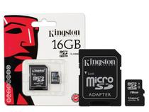 Cartao de Memoria Classe 4 Kingston SDC4/16GB Micro SDHC 16GB com Adaptador SD