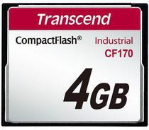 Cartão de memória Compact Flash CF Transcend 4GB 170X Industrial -