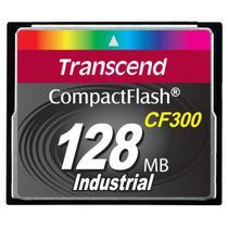 Cartão de memória CompactFlash Transcend 128MB TS128MCF300 300x Industrial -