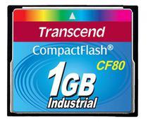 Cartão de memória CompactFlash Transcend 1GB 80x Industrial TS1GCF80 -