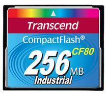 Cartão de memória CompactFlash Transcend 256MB 80x Industrial TS256MCF80 -