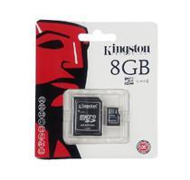 Cartão De Memória Micro Sd 8gb Kingston Com Adaptador -