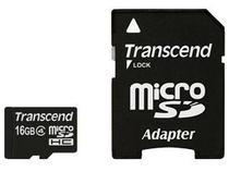 Cartão de Memória MicroSDHC 16GB Transcend classe 4 -