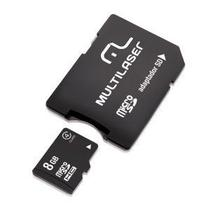 Cartao de Memoria Multilaser MC004 Micro SD 8GB com Adaptador SD