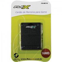 Cartão de Memória Playstation2 16MB Preto FXMC16 FLEX -