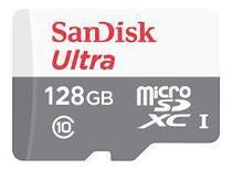 Cartão de Memória Sandisk 128GB Classe 10 SDSDQUNR 128G-GN6TA Micro SD -