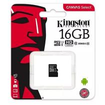 Cartao de Memoria SD Kingston 16GB Classe 10 Sem Adaptador -