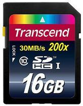 Cartao de Memoria SDHC 16GB Transcend - Class 10 -