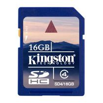 Cartão De Memoria Secure Digital (SD) 16gb Classe 4 Kingston - SD4/16GB -