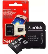Cartão Memória 32 Gb Classe 4 Sandisk Original C/ Adaptador 32GB -