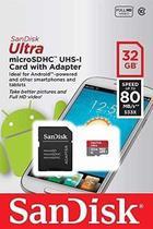 Cartão Memória Sandisk Micro Sd 32 Gb Ultra Classe 10 80mb/s -
