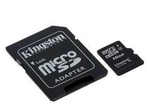 Cartão Micro SD 16Gb KingSton, Classe 10 com Adaptado SD