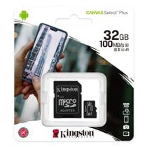 Cartão micro sd 32gb classe 10 100mb/s c/adaptador sdcs2/32gb  kingston -