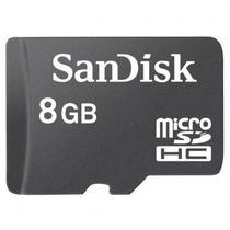 Cartão Micro SD Sandisk 8GB  com Adaptador Original