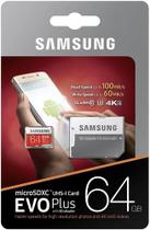 Cartao Samsung Micro Sd Evo Plus 64gb 100mbs Lacrado +adapt