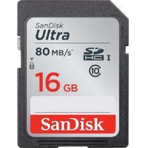 Cartão Sd Sdhc Ultra Sandisk 16gb 80mb/s Uhs-i Lacrado -