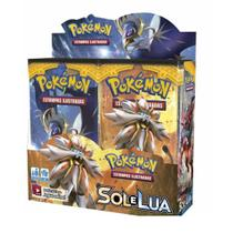 Cartas Sun e Moon Pokemon TCG Booster Box Sol E Lua 36 Boosters - Copag
