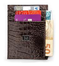 Carteira Couro Porta Cartão Ultra Slim Pequena Fina Zalupe -