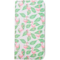Carteira Estampada de Flamingos - Branco - Glamour Pink