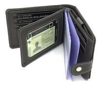 Carteira Masculina Couro com porta cartões cédulas rg cnh moedas - Kartmen -