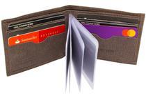 Carteira Pequena Compacta Fina com elástico Porta Cartões Cnh Cédulas - Kartmen -