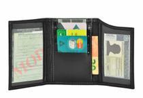 Carteira Porta CNH E Documento Veículo Couro Preto - Kenia  katia