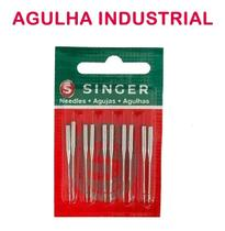 Cartela com 10 Agulhas Singer 1515 90/14 Para Máquina Industrial Reta -