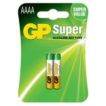 Cartela Com 2 Unidades Pilhas Super Alcalinas Aaaa Gp 1.5v -